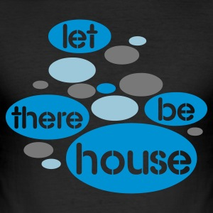 Zwart Let There Be House T-shirts - slim fit T-shirt