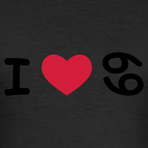 I love 69 - Männer Slim Fit T-Shirt