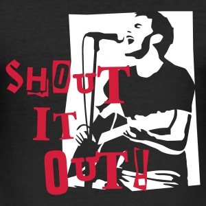 shout_it_out_white Tee shirts - Tee shirt près du corps Homme