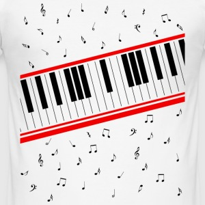 Beat It – Piano Shirt - Männer Slim Fit T-Shirt