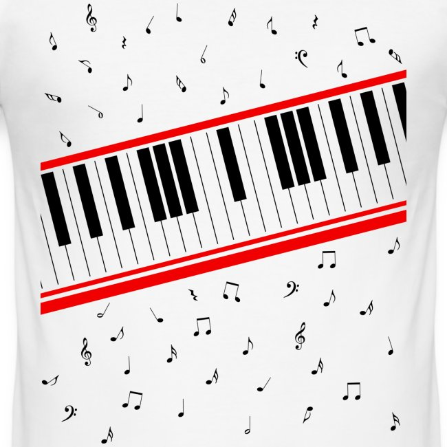 Beat It – Piano Shirt (Slim Fit Herren)