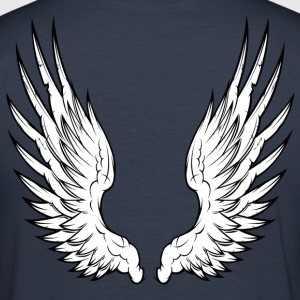 Dark navy angel wings T-Shirts - Männer Slim Fit T-Shirt