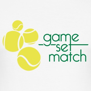 TENNIS: GAME SET MATCH - Tee shirt près du corps Homme