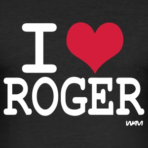 Noir i love roger by wam ( tribute to federer ) T-shirts - Tee shirt près du corps Homme