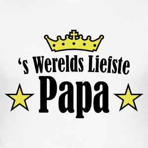 Wit liefste papa 2 T-shirts - slim fit T-shirt