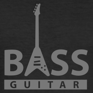 bass_guitar T-shirts - Herre Slim Fit T-Shirt