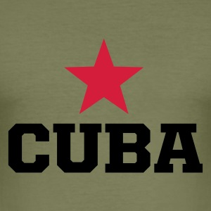 Olive cuba revolucion Men's Tees - Men's Slim Fit T-Shirt
