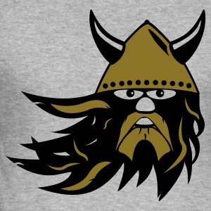 Grå meleret viking warrior 2k DK T-shirts - Herre Slim Fit T-Shirt