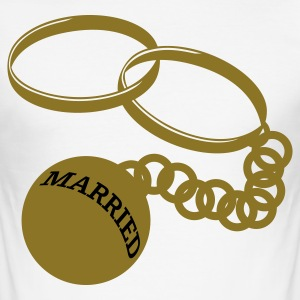 Weiß married T-Shirts - Männer Slim Fit T-Shirt