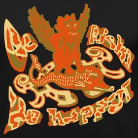 Motiv ~ Go fish! Be happy!, slimfit t-shirt