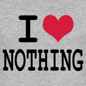 Gris chiné i love nothing by wam T-shirts - Tee shirt près du corps Homme