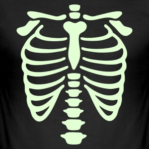 Black X-Ray rib-case Men's T-Shirts - Men's Slim Fit T-Shirt