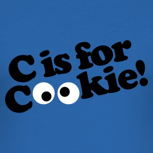Koningsblauw C is for Cookie T-shirts - slim fit T-shirt