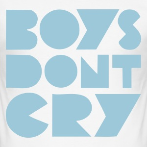 Weiß :: BOYS DON'T CRY :: T-Shirts - Männer Slim Fit T-Shirt