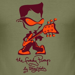 THE FUNKY PIMP Pt. 2 by toneyshirts (UK) - Men's Slim Fit T-Shirt