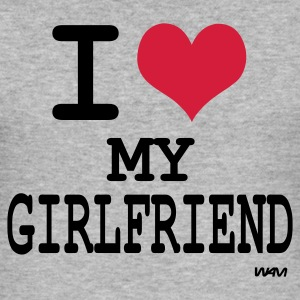 Gris salpicado i love my girl friend by wam Camisetas - Camiseta ajustada hombre