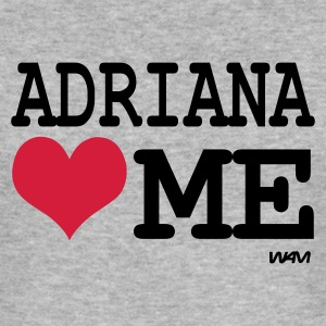 Grau meliert adriana loves me T-Shirts - Männer Slim Fit T-Shirt