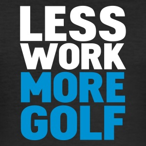 Nero less work more golf T-shirt - Maglietta aderente da uomo