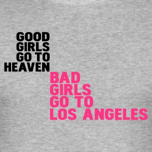Gris chiné bad girls go to los angeles T-shirts - Tee shirt près du corps Homme