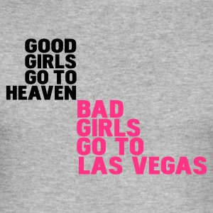 Gris chiné bad girls go to las vegas T-shirts - Tee shirt près du corps Homme