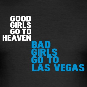 Nero bad girls go to las vegas T-shirt - Maglietta aderente da uomo