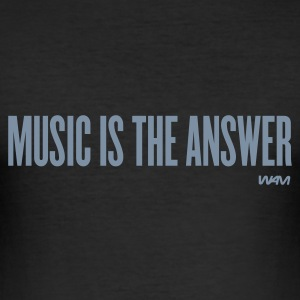 Black music is the answer by wam Men's T-Shirts - Men's Slim Fit T-Shirt