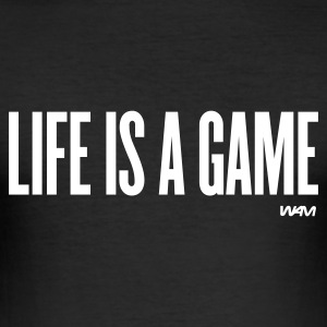 Nero life is a game by wam T-shirt - Maglietta aderente da uomo