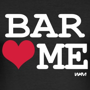 Svart bar loves me by wam T-skjorter - Slim Fit T-skjorte for menn