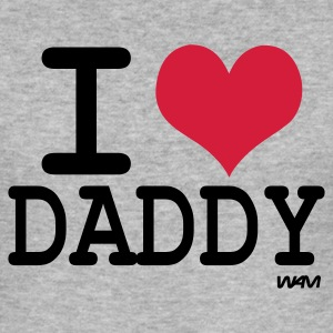 Grijs gespikkeld i love daddy by wam T-shirts - slim fit T-shirt