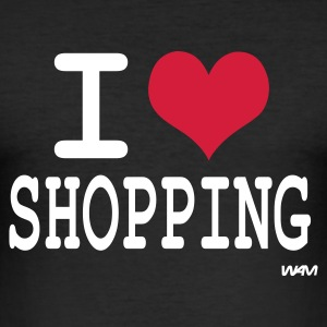 Nero i love shopping by wam T-shirt - Maglietta aderente da uomo
