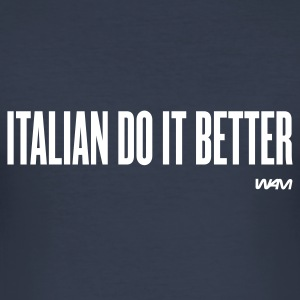Navy scuro italian do it better by wam T-shirt - Maglietta aderente da uomo