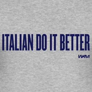 Grigio melange italian do it better by wam T-shirt - Maglietta aderente da uomo
