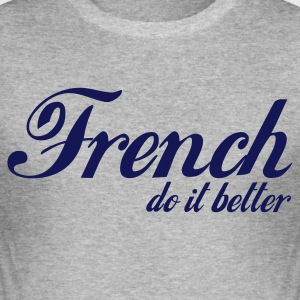 Gris chiné french do it better T-shirts - Tee shirt près du corps Homme