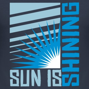 Dark navy Sun is shining T-Shirts - Männer Slim Fit T-Shirt