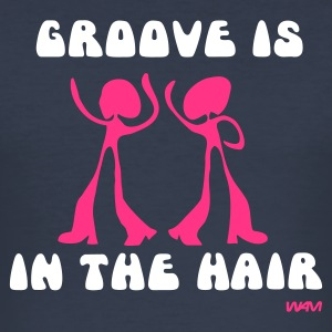 Dark navy groove is in the HAIR T-shirts - slim fit T-shirt