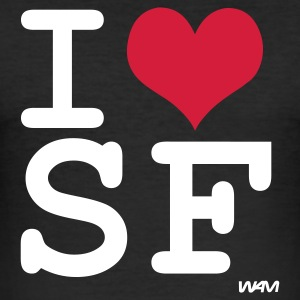 Svart i love san francisco by wam T-shirts - Slim Fit T-shirt herr