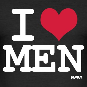 Svart i love men by wam T-shirts - Slim Fit T-shirt herr