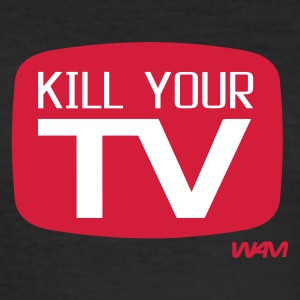 Noir kill your tv by wam T-shirts - Tee shirt près du corps Homme