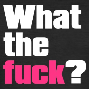 Svart what the fuck by wam T-skjorter - Slim Fit T-skjorte for menn