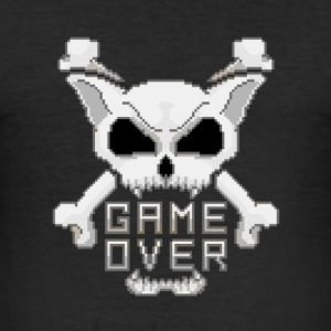 Game Over Pixel Art Skull - Tee shirt près du corps Homme