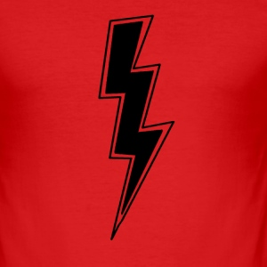 Red Thunder Bolt Men's T-Shirts - Men's Slim Fit T-Shirt