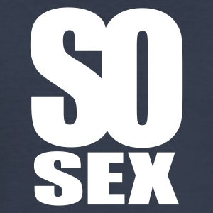 Navy scuro so sex T-shirt - Maglietta aderente da uomo
