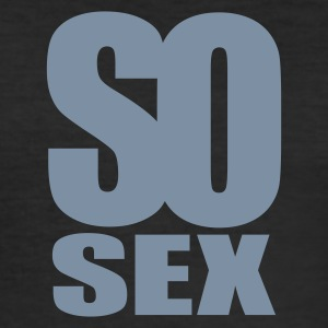 Svart so sex T-shirts - Slim Fit T-shirt herr