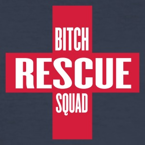 Dark navy bitch rescue T-Shirts - Männer Slim Fit T-Shirt