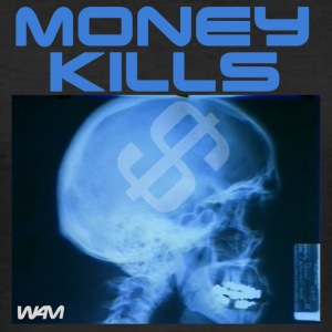 Svart money kills by wam T-shirts - Slim Fit T-shirt herr