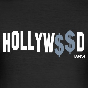 Svart hollywood money by wam T-shirts - Slim Fit T-shirt herr