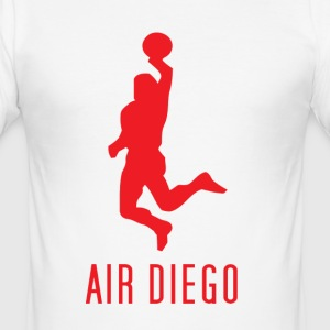 White Air Diego Men's T-Shirts - Men's Slim Fit T-Shirt