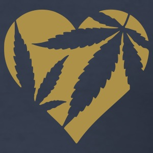 Dark navy Hanf Herz / Cannabis Love Heart T-Shirts - Männer Slim Fit T-Shirt