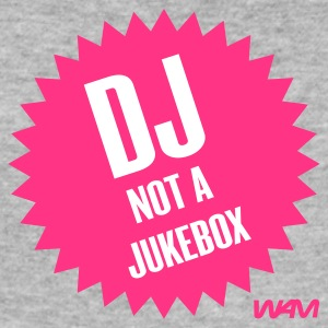 Gråmelerad dj not a jukebox T-shirts - Slim Fit T-shirt herr