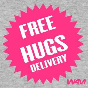 Grau meliert free hugs delivery by wam T-Shirts - Männer Slim Fit T-Shirt